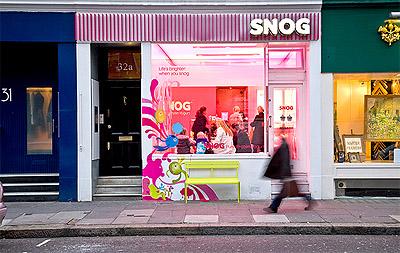 Yogurt Store Design Facade