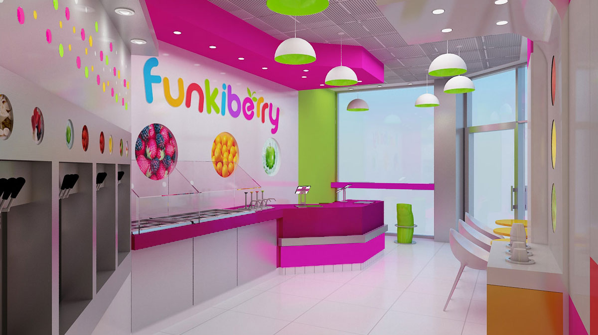 Funkiberry Yogurt Shop Interior Design