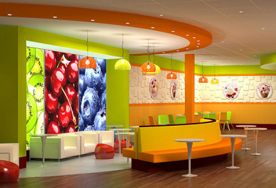 Fresa Yogurt Shop interior design and branding by Mindful Design Consulting