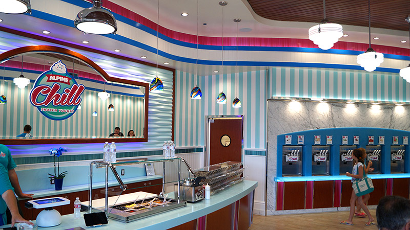 alpine chill frozen yogurt shop by Mindful Design COnsulting