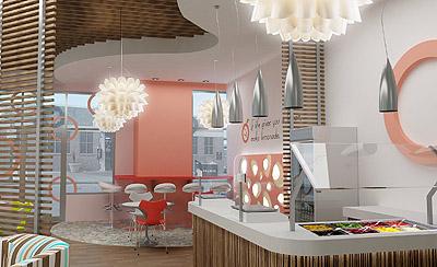 Apricato Yogurt Shop Interior Design And Branding