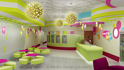 Yogurt shop design FroYo Fiesta