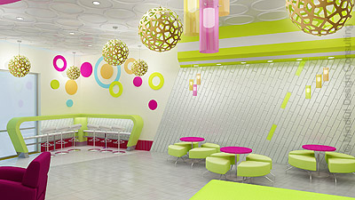 Yogurt shop design FroYo Fiesta