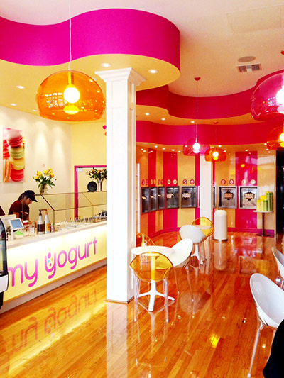 yogurt shop design my yogurt by mindful design consulting