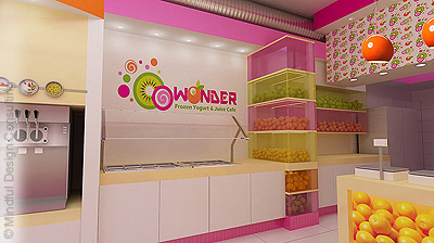 O-O-Wonder Yogurt Shop Design and Branding
