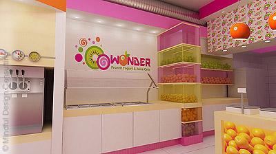 O-O-Wonder Yogurt Shop Design and Branding
