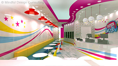 Yogurt Shop Branding Design - Super Swirls, Ontario, Canada