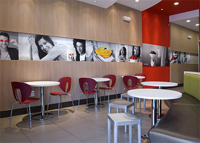 Famous Furniture Stores on Yogurt Store Design Interior Furniture