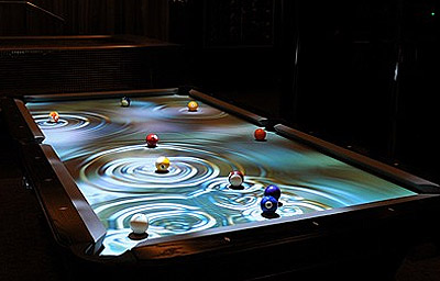 interactive pool table