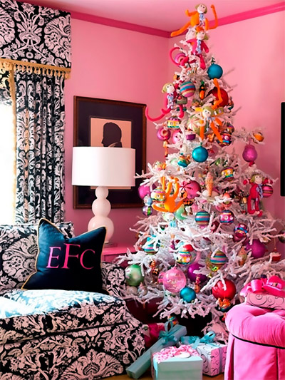 pink christmas tree - Christmas Decorations For Businesses