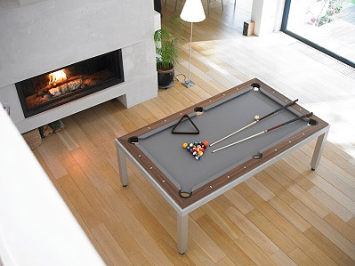 Dining Table Transforms Into A Pool Table Commercial Interior Design