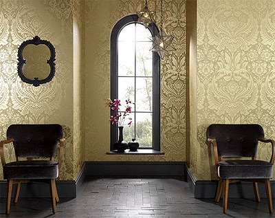 It Is Very Easy To Create A Sense Of Style In Any Room With Patterned Wallpaper If You Want Go More Traditional Like On The Image Above