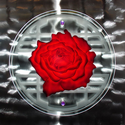 Stained Glass Art By Ernie Orfila - Rose Is