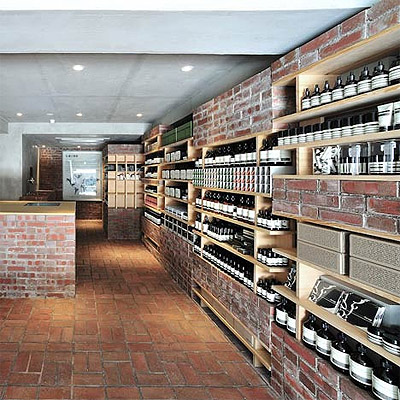 Skincare Store Design with Brick Interior - Commercial