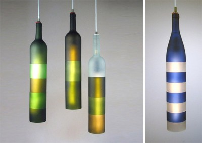 Recycled bottles lighting