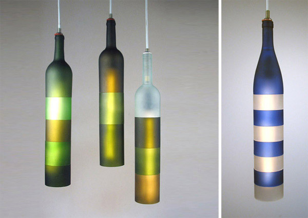 Recycled bottle lights by jerry kott commercial interior design news mindful design consulting - Recycled light fixtures ...