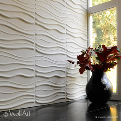 Decorative Textured Wall Panels Commercial Interior