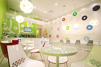 Yogurt shop store design