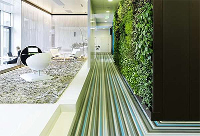 green office in viena - microsoft - lobby