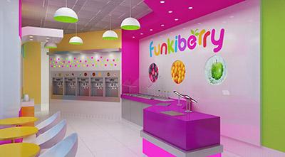 Funkiberry Yogurt Shop Design and Branding