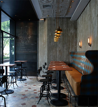 rustic pizzeria bar in shanghai commercial interior design news mindful design consulting. Black Bedroom Furniture Sets. Home Design Ideas