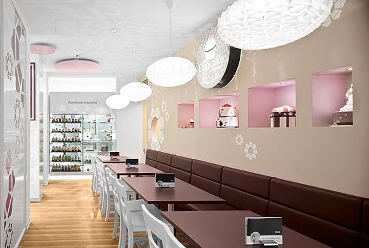 Cake Design Store : The Cupcake Boutique New Look   Commercial Interior Design ...