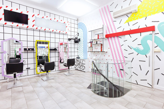 Styling hair salon or a paper doll house? – commercial interior ...