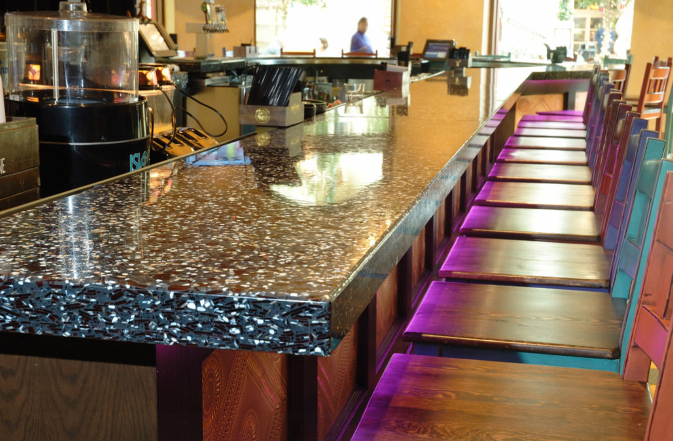 Recycled Glass Countertops : Recycled Glass Countertops and Floors ? Commercial Interior Design ...