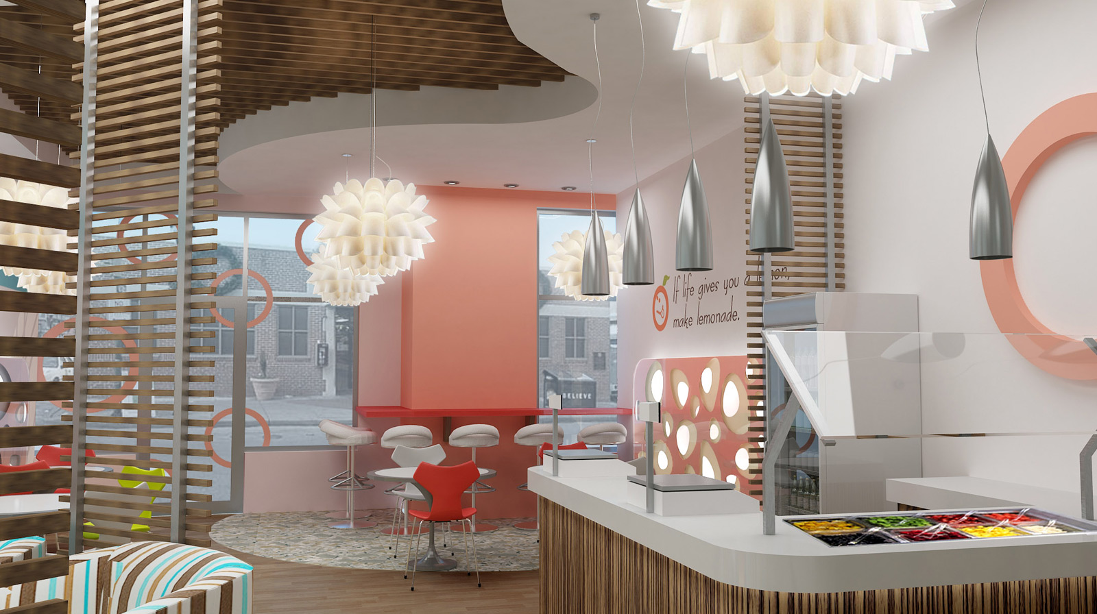 Yogurt Shop Interior Design
