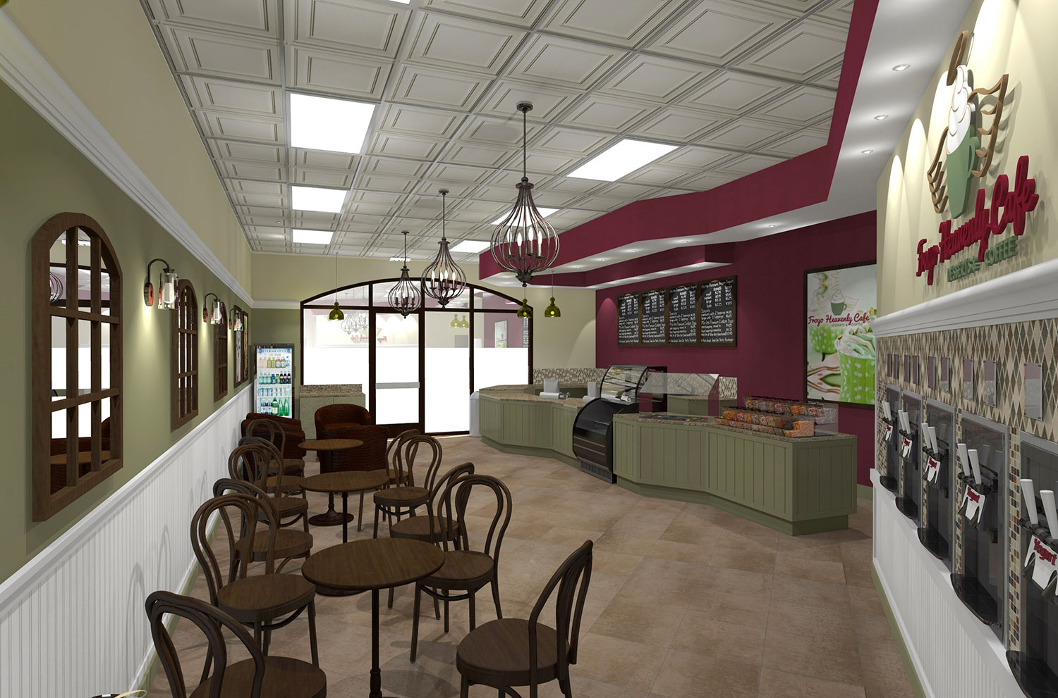 Cafe FroYo Heavenly Interior Design