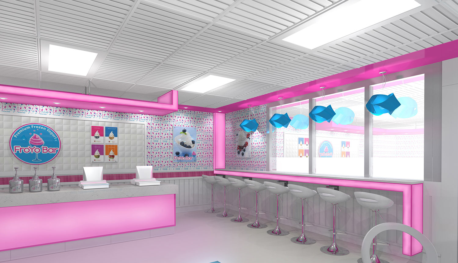 FroYo Bar frozen yogurt shop design by Mindful Design Consulting