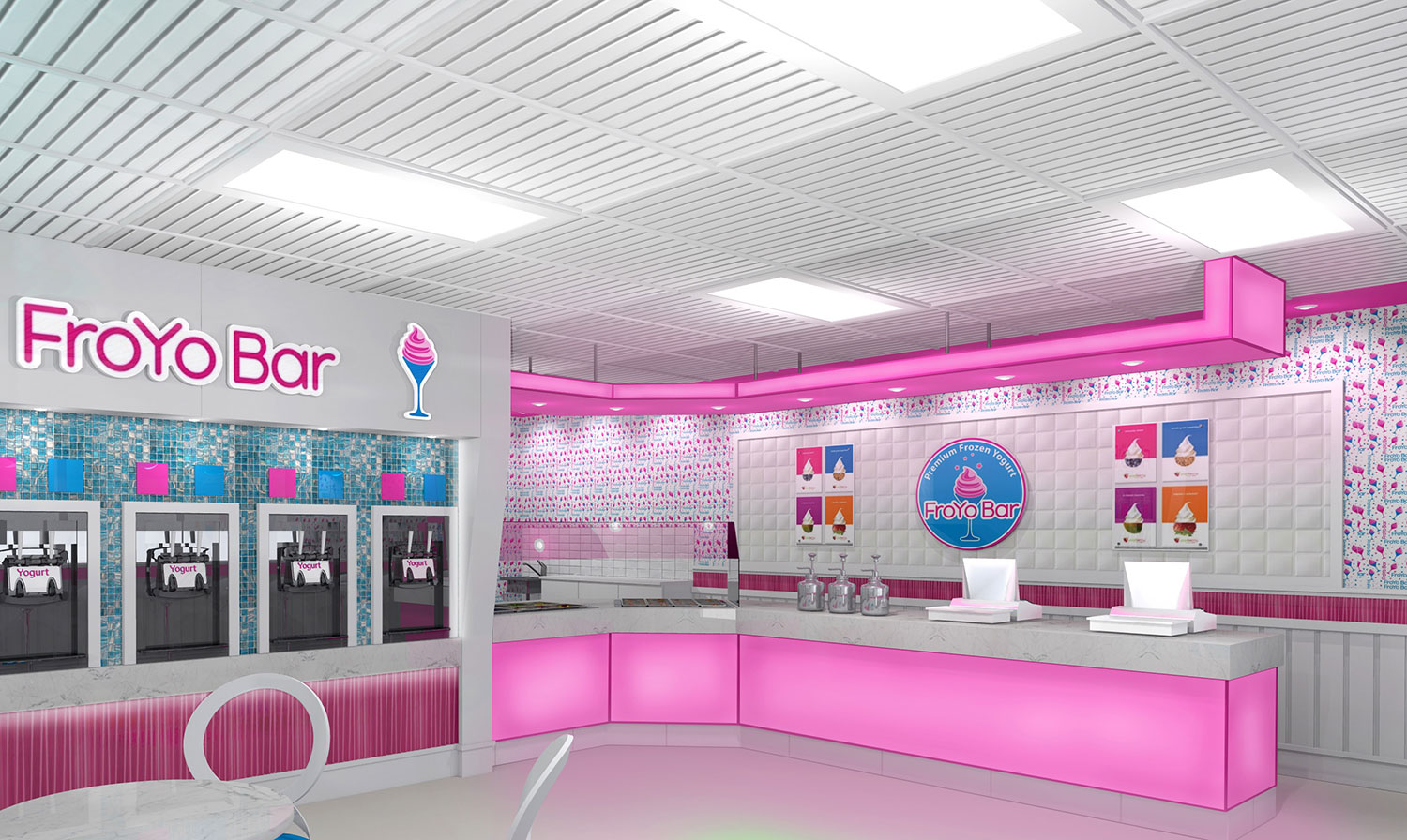 FroYo Bar Interior Design