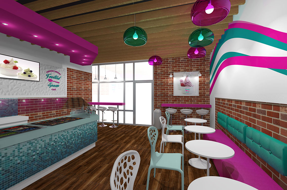 Frosted Spoon Yogurt Shop Interior Design