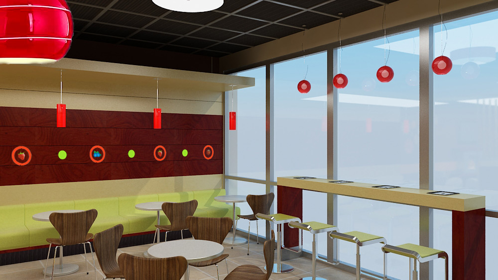 Top It Yogurt Shop Interior Design
