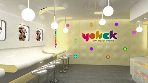 Yogurt Shop Design With Creamy Texture By Mindful