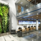 Hamilton Sundstrand Lobby Interior - green wall proposal