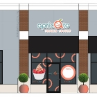 Apricato Yogurt Shop Branding and Interior Design - Store Front Design