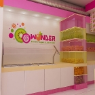 New York, NY - Yogurt Shop Design and Branding - O-o-Wonder Yogurt