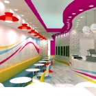 Burlington, in Ontario, Canada - Super Swirls Yogurt Shop Design