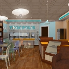 Yogopolis Greek Frozen Yogurt Shop Interior Design and Branding