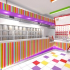 Tropical Shores Popcorn Store Branding and Interior