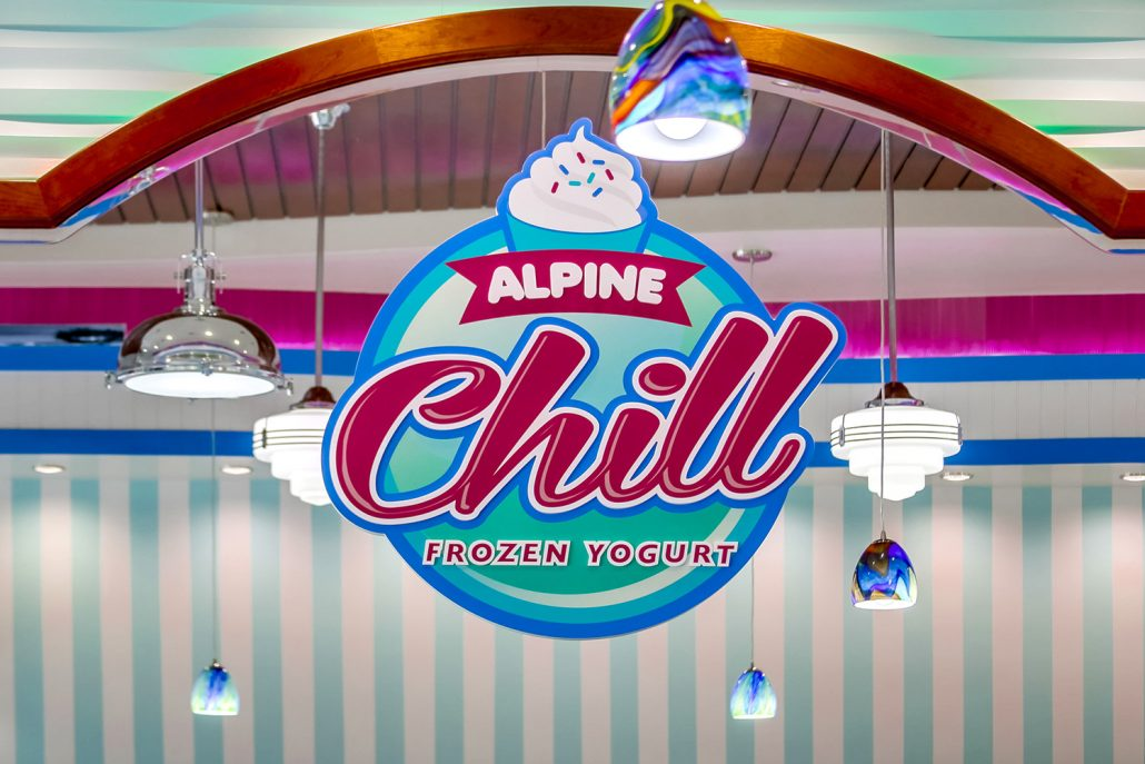 Alpine Chill Frozen Yogurt Shop Design and Branding