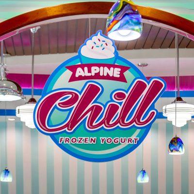 Alpine Chill Frozen Yogurt Shop Design and Branding