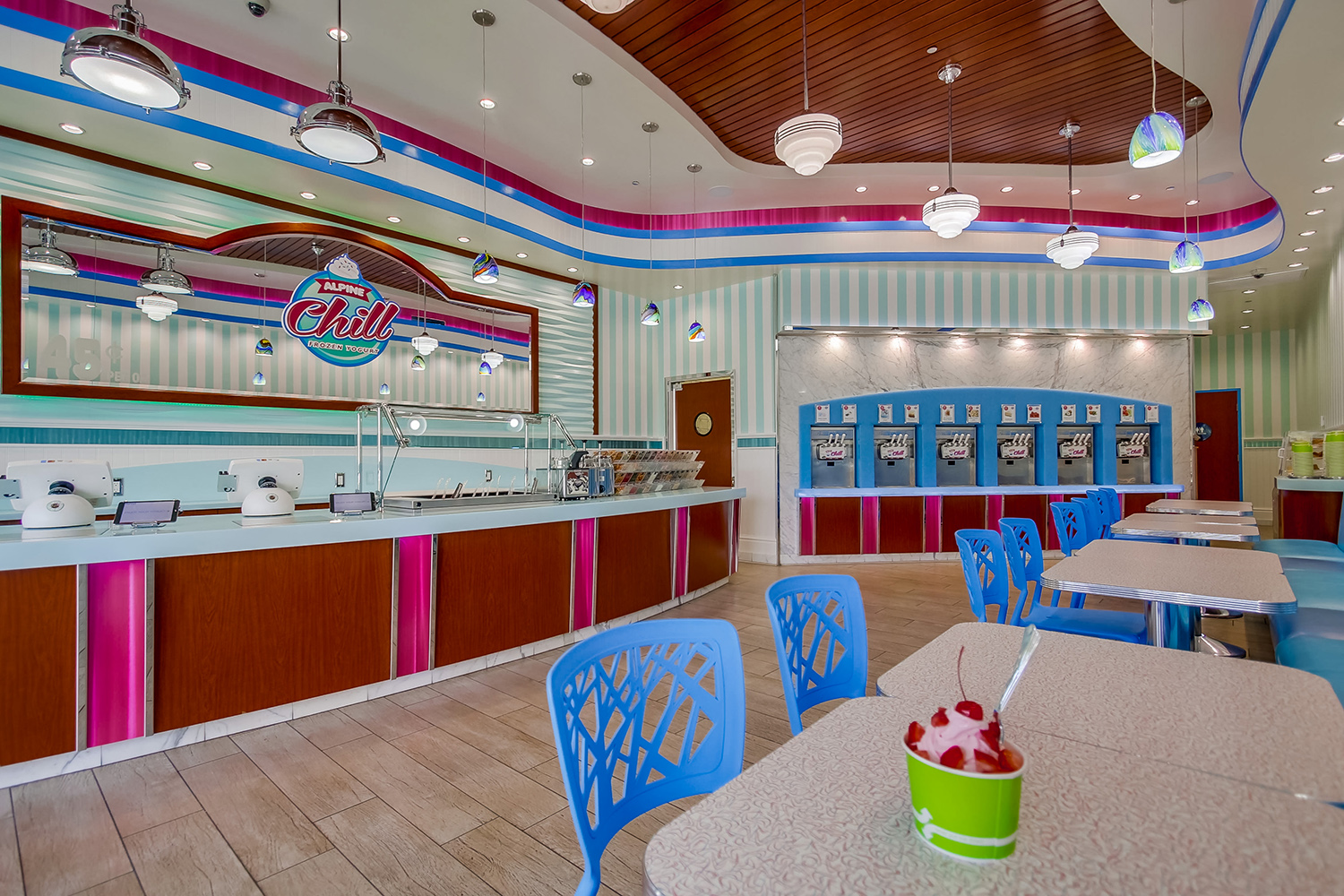Alpine Chill Yogurt Shop Design