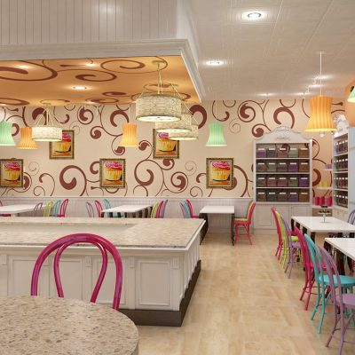 Artista Dolce Dessert Cafe Studio interior design and branding
