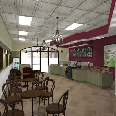 Cafe Froyo Heavenly frozen yogurt shop interior design and branding