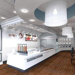 Cafe Froyo interior design