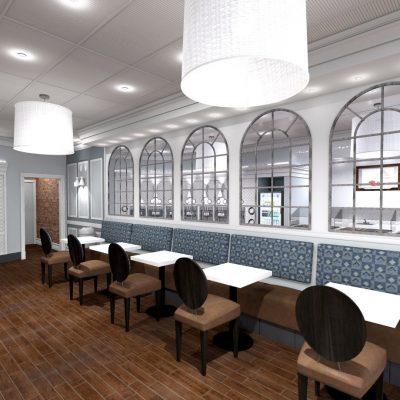 Cafe Froyo interior design