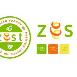 Yogurt shop and cafe logo design