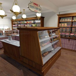 Cousins Candy store interior design and branding